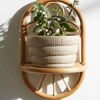 Magical Thinking Paz Rattan Wall Shelf