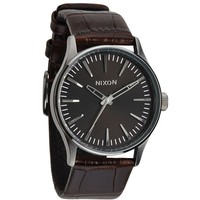 Nixon The Sentry 38 Leather Watch - Mens Watches