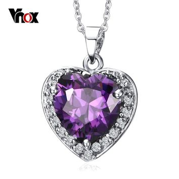 Vnox Vintage Heart of The Ocean Choker Love Necklaces & Pendants Birthday Best Friends Gifts free box