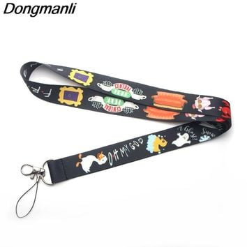 P3087 Dongmanli Friends TV Show Chain Necklace Badge ID / Mobile Phone Rope/ Key Lanyard Neck Straps Accessories