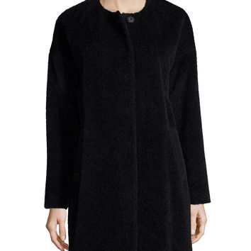Fisher Project Alpaca-Blend Cocoon Coat, Size: