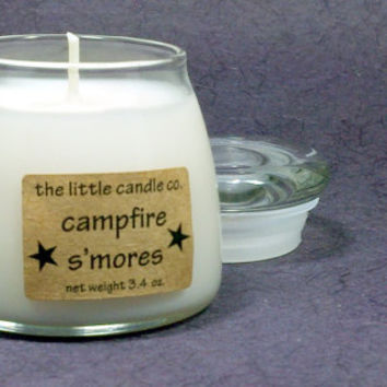 Soy Jar Candle // Campfire S'mores // Highly Scented Container Candle // Mother's Day Gift // Wedding Favor // Primitive Home Decor