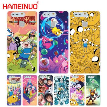 HAMEINUO Adventure Time Cover phone Case for huawei Ascend P7 P8 P9 P10 lite plus G8 G7 honor 5C 2017