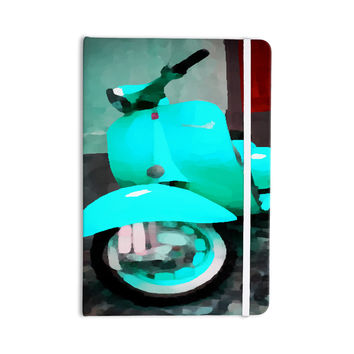 "Oriana Cordero ""Vespa I"" Teal Blue Everything Notebook"