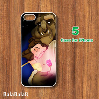 Beauty and Beast--iPhone  4 case,iphone 5 Case,Belle Princess, in durable plastic or rubber silicone case