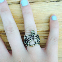 Bronze Octopus Ring, Nautical Ring, Mermaid Ring FREE SHIPPING