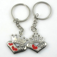 Cute Keyring  Lover Gift Couple Valentine' gift Keychain Keyfob Crown = 1929789060
