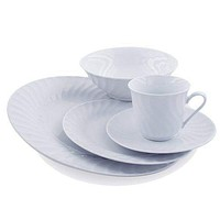 Imperial White Porcelain Dessert Plates in Sets of 6