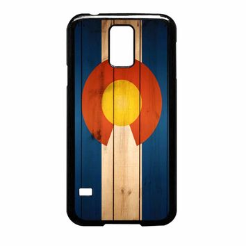 Colorado State Flag Wood Samsung Galaxy S5 Case