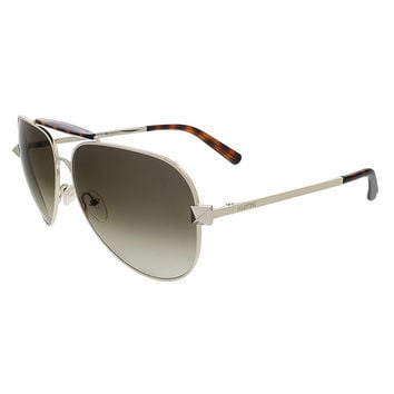 Valentino Light Gold/Dark Havana Aviator Valentino Sunglasses