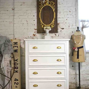 Painted Cottage Chic Shabby Romantic Modern Painted Chest / Dresser