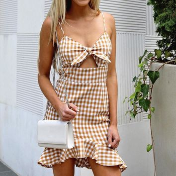 Vanessa plaid ruffle dress