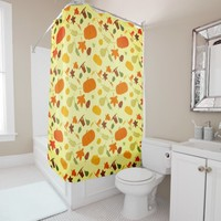 Thanksgiving Harvest Pattern Shower Curtain