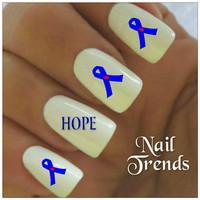 Nail Decals Diabetes Awareness 20 Vinyl Stickers Nail Art