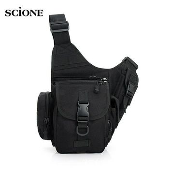 Men Camping Bags Tactical Shoulder Chest Bag Molle System Military Crossbody Pouch Sports Sling Waterproof Sac De Sport XA141WA