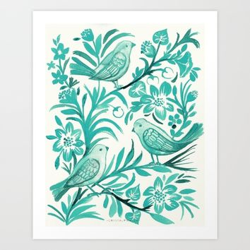 Blue Birds Art Print by CRYSTAL WALEN