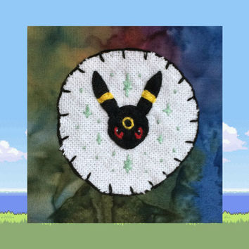 Umbreon Patch, Pokemon Patch, Handmade Patch