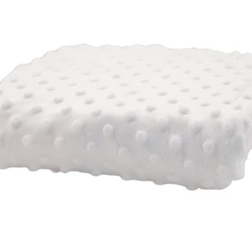 Rumble Tuff Kit Minky Dot Contour Compact White Changing Pad Cover