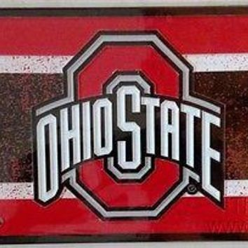 Ohio State Buckeyes VINTAGE Style Deluxe Laser License Plate Tag University of