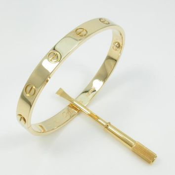 Authentic Cartier Love bracelet #246-000-159-6472