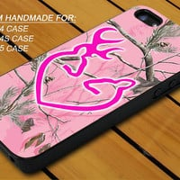 Browning Deer Camo Hunting Heart - iPhone 4 / 4s or iPhone 5 Case - Hard Case Print - Black or White Case - Please leave message