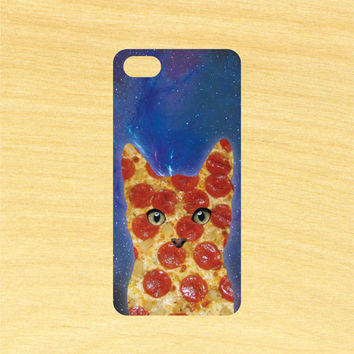 Pizza Cat in Space Pattern Design iPhone 4/4S 5/5C 6/6+ and Samsung Galaxy S3/S4/S5 Phone Case