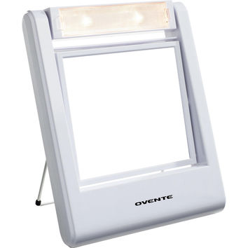 Ovente MLT22W Square Lighted 1x/2x Dual-side Vanity Mirror | Overstock.com Shopping - The Best Deals on Makeup Mirrors