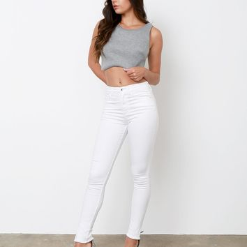 One Of Yours Crop Top - Gray