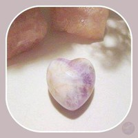 """ Stone of Spirit & Integrity"" Chevron Amethyst Heart"