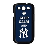 Best MLB samsung Case - samsung galaxy s3 i9300 Case Cover with keep calm and New York Yankees logo U114969
