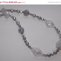 25% OFF SALE Silver Bling Necklace