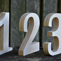 Wooden Numbers, Free Standing Wedding Table Numbers, Rustic Wedding Decors, Numbers for Tables, Home Decor or Nursery, Photo Props