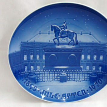 Bing Grondahl Copenhagen Denmark The Royal Palace Vintage Christmas Plate 75 Anniversary 1895 1970