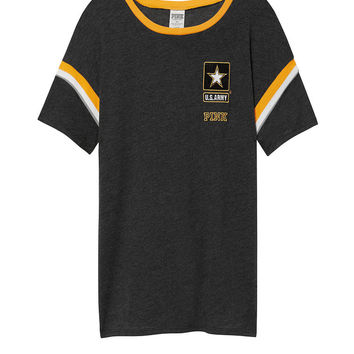 Army Bling Short Sleeve Tee with Rib Trim - PINK - Victoria's Secret