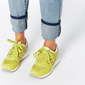 New Balance 996 Lime Nubuck Trainers