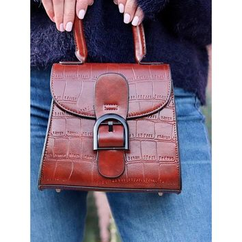 Alter Croc Vachette Vintage Crossbody Bag