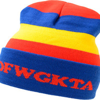 Odd Future OFWGKTA Red, Blue, & Yellow Fold Beanie