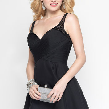 Alyce Black Beaded Strap Dress