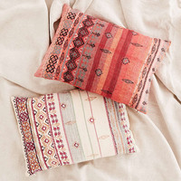 Agda Embroidered Yarn Cushion - Urban Outfitters