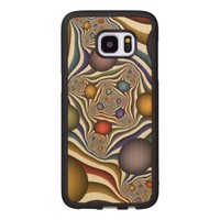 Flying Up, Colorful, Modern, Abstract Fractal Art Wood Samsung Galaxy S7 Edge Case