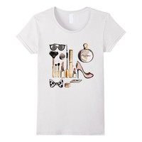 Makeup Cosmetic Collection Stylish Tee Fashion Gift For Her