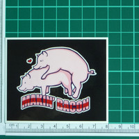 Makin Bacon Funny Adult Novelty Sticker Decal Pigs Pork Rude Offensive Sex Fun