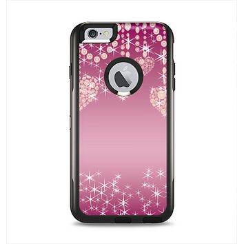 The Pink Sparkly Chandelier Hearts Apple iPhone 6 Plus Otterbox Commuter Case Skin Set
