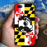 Natty Boh,MD Flag Rubber - Print on hard plastic case for iPhone case. Select an option