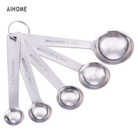 5pcs Stainless Steel Measuring Spoons Cups Measuring Set Tools For Baking Coffee 6 sizes Spoons Set