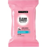 Maybelline Clean Express! Makeup Remover Facial Towelettes, 25 count - Walmart.com