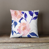 Gypsy Heart Floral Throw Pillow