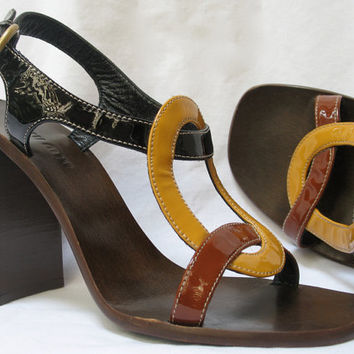 Vintage Miu Miu 90s Chunky High Heels Sandals 36 Shoes