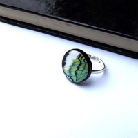 Butterfly wing ring -  Green butterfly wing ring - Butterfly Wing Jewelry - Butterfly ring  - Mothers Day Ring - butterfly wing
