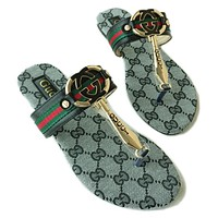 GUCCI Popular Slippers Women Casual Letter Print Flat Sandal Slipper Shoes(2-Color)